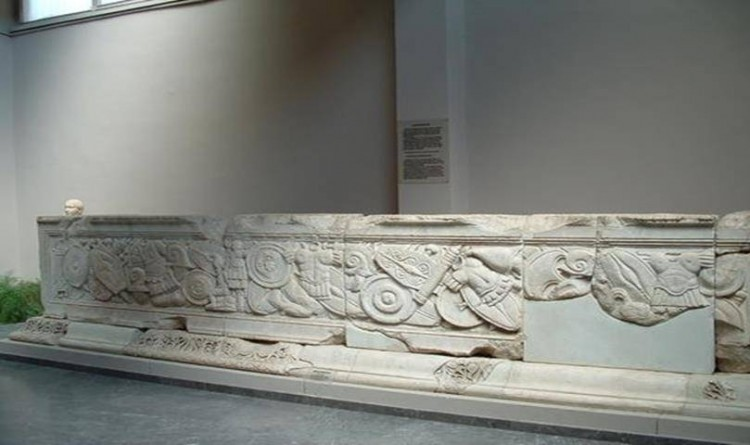 Domitian Temple Altar in Ephesus Museum