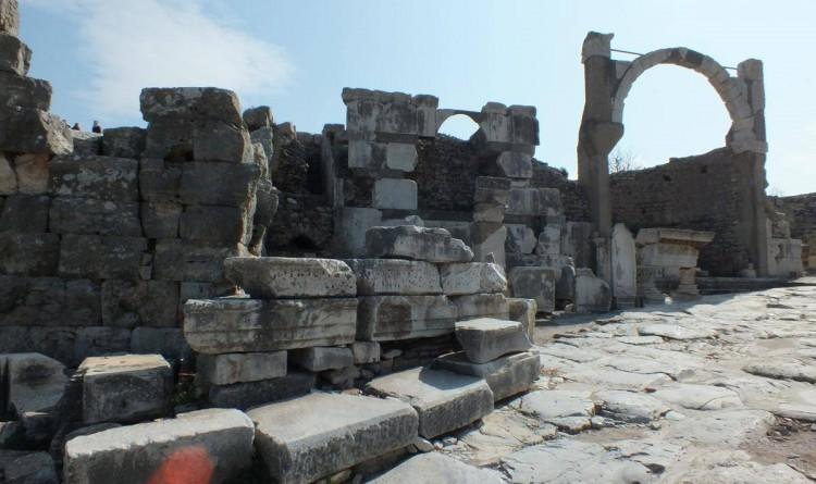Domitian Temple - Domitian Square in Ephesus