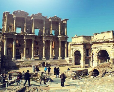 Celsus Library at Ephesus Ancient City