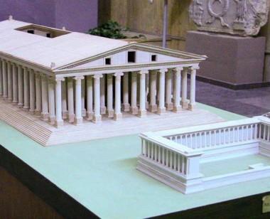 Artemis Temple Model at Ephesus Museum